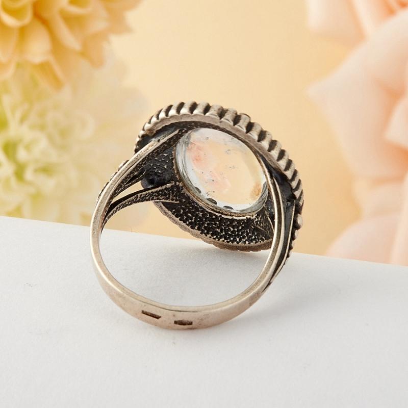 [del] Кольцо горный хрусталь Бразилия (серебро)  размер 16
