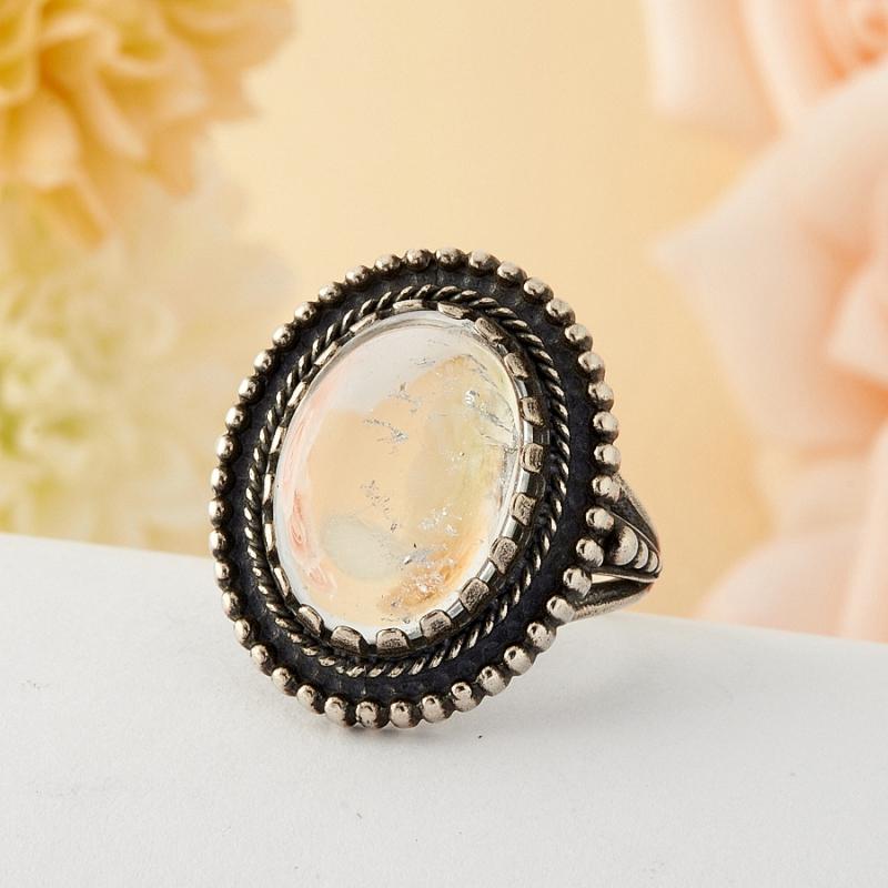 [del] Кольцо горный хрусталь Бразилия (серебро)  размер 17