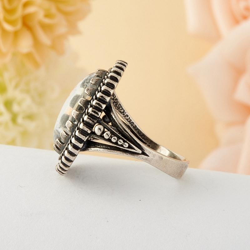 [del] Кольцо горный хрусталь Бразилия (серебро)  размер 15,5