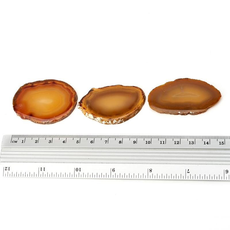 Срез агат серый Ботсвана (4-5 см) (1 шт)