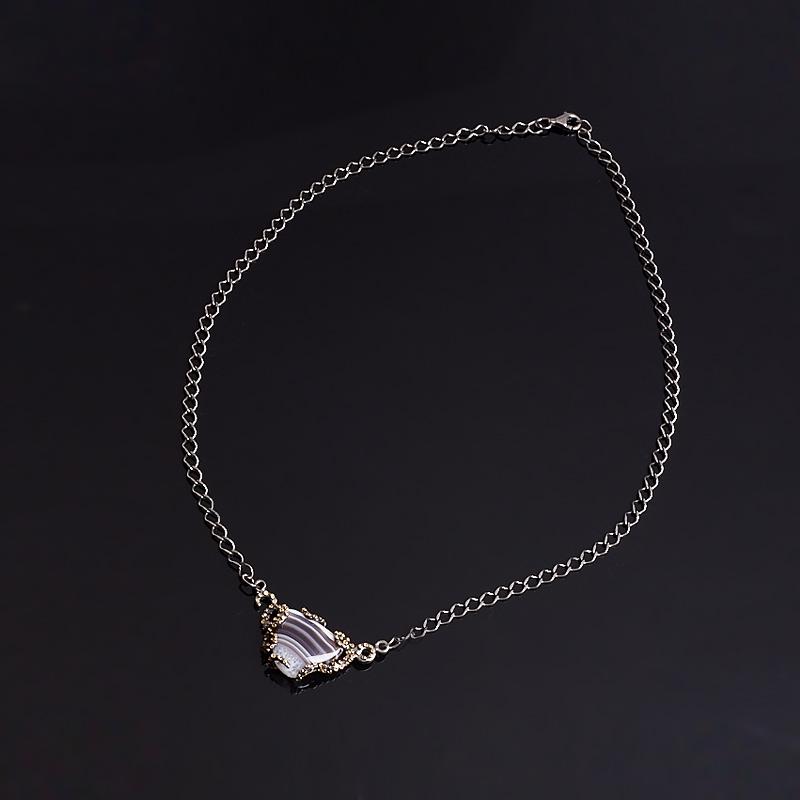 Кулон агат Бразилия (серебро 925 пр., позолота)