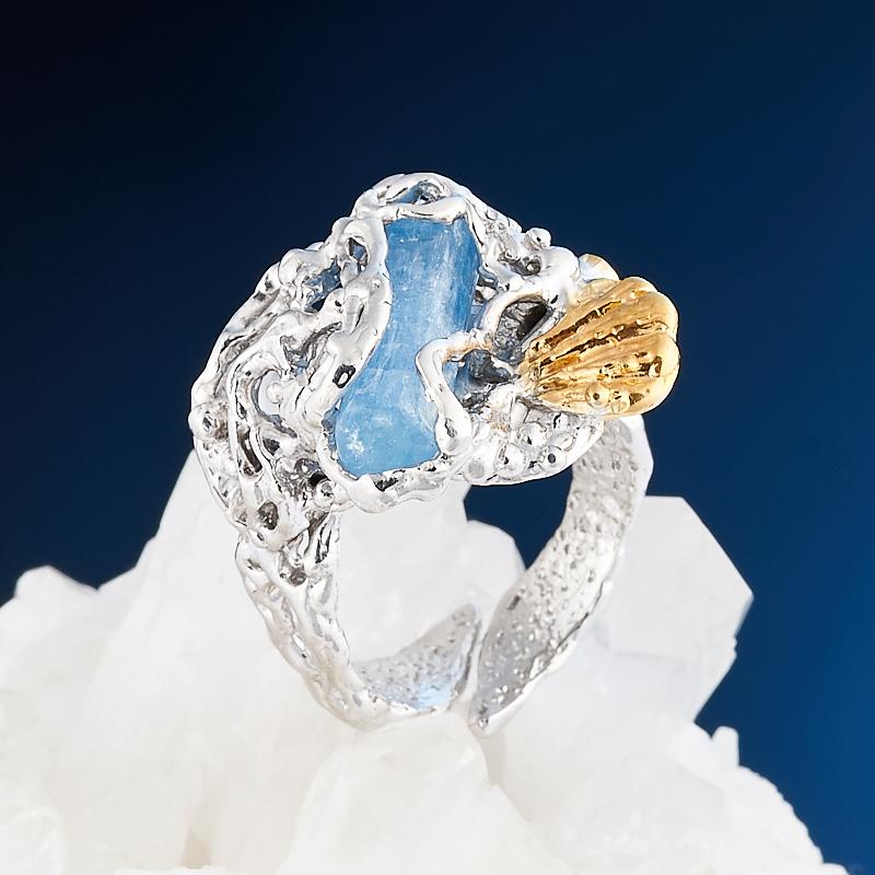 Фото - Кольцо аквамарин (серебро 925 пр., позолота) размер регулируемый кольцо аквамарин серебро 925 пр позолота размер 18