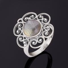 Кольцо лабрадор Мадагаскар (серебро 925 пр.) размер 18