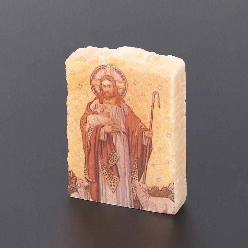 Изображение селенит Россия Иисус Христос Добрый Пастырь 4-5 см
