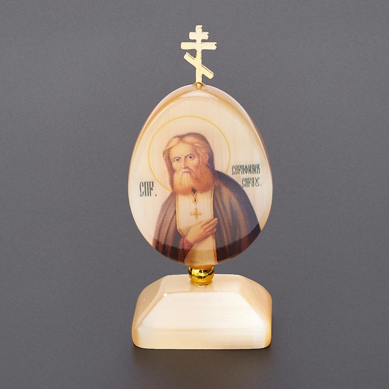 Пасхальное изображение Серафим Саровский селенит 9 см преподобный серафим саровский преподобный серафим саровский избранное