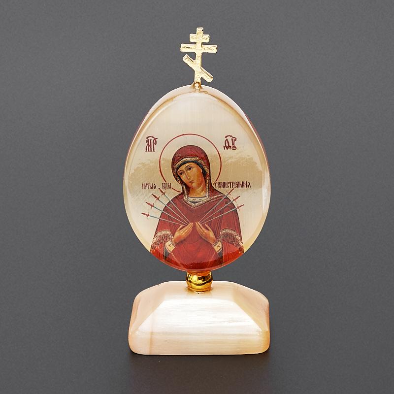 Пасхальное изображение Богоматерь Семистрельная селенит 9 см богоматерь смоленская одигитрия