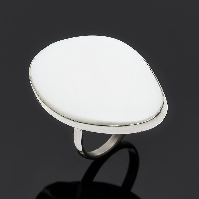 Кольцо кахолонг (дублет) (нейзильбер) размер 18,5
