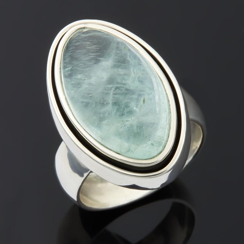 Кольцо берилл (серебро 925 пр.) размер 18