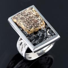 Кольцо янтарь Россия (серебро 925 пр.) (регулируемый) размер 17,5