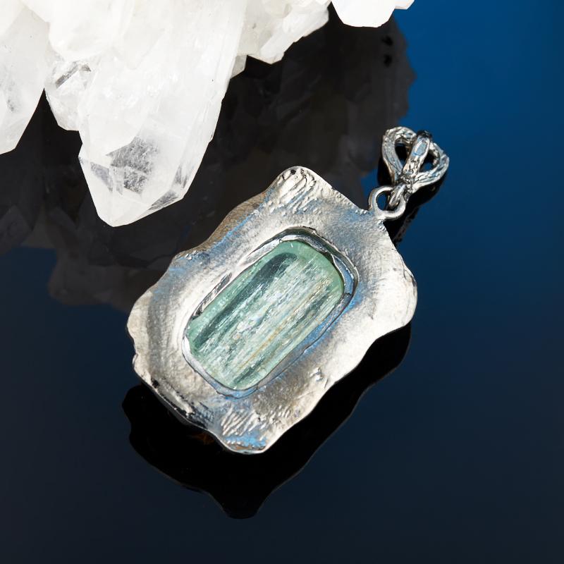 Кулон аквамарин Россия (серебро 925 пр., позолота)
