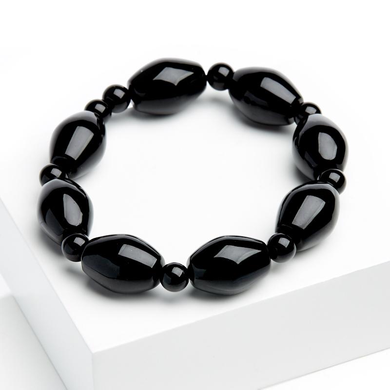Браслет агат черный 16 см интеллектуальный полный черный браслет браслет h5h6