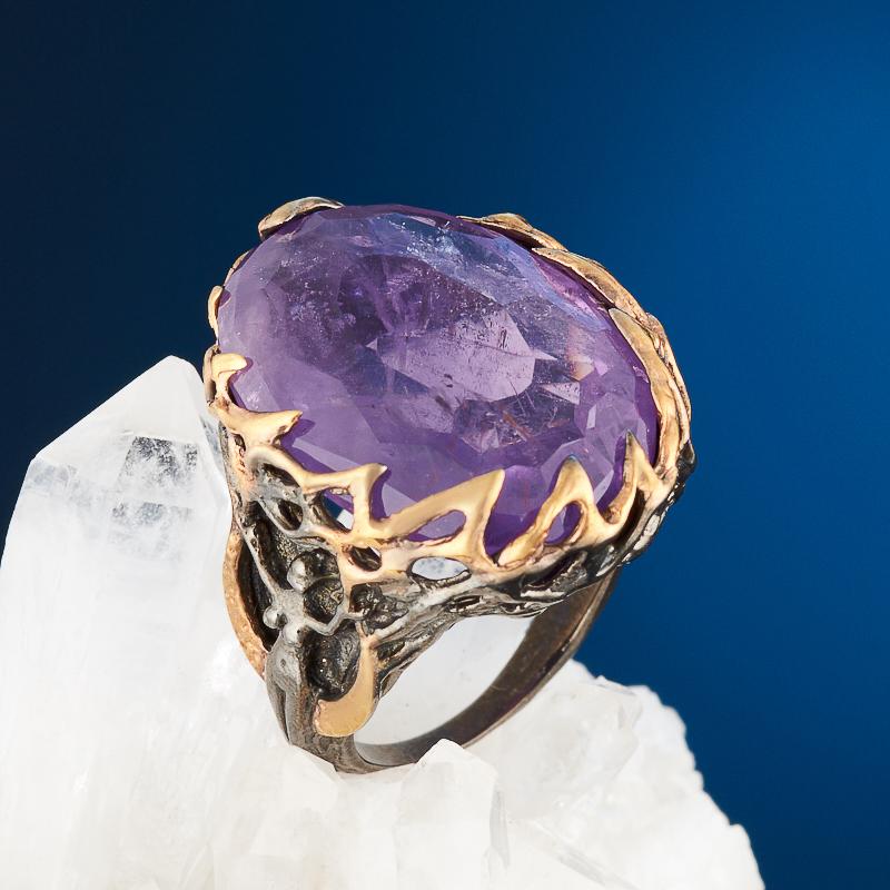 Кольцо аметист огранка (серебро 925 пр., позолота) размер 17,5 кольцо аметист огранка серебро 925 пр позолота размер 18 5