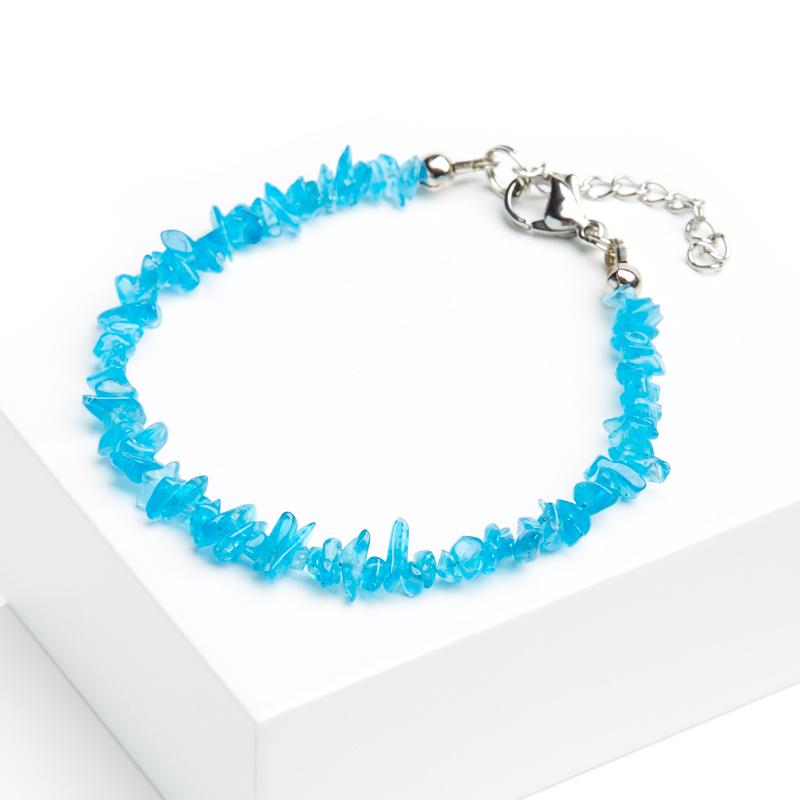 Фото - Браслет апатит синий 16-19 см (хир. сталь) браслет апатит голубой 16 cм