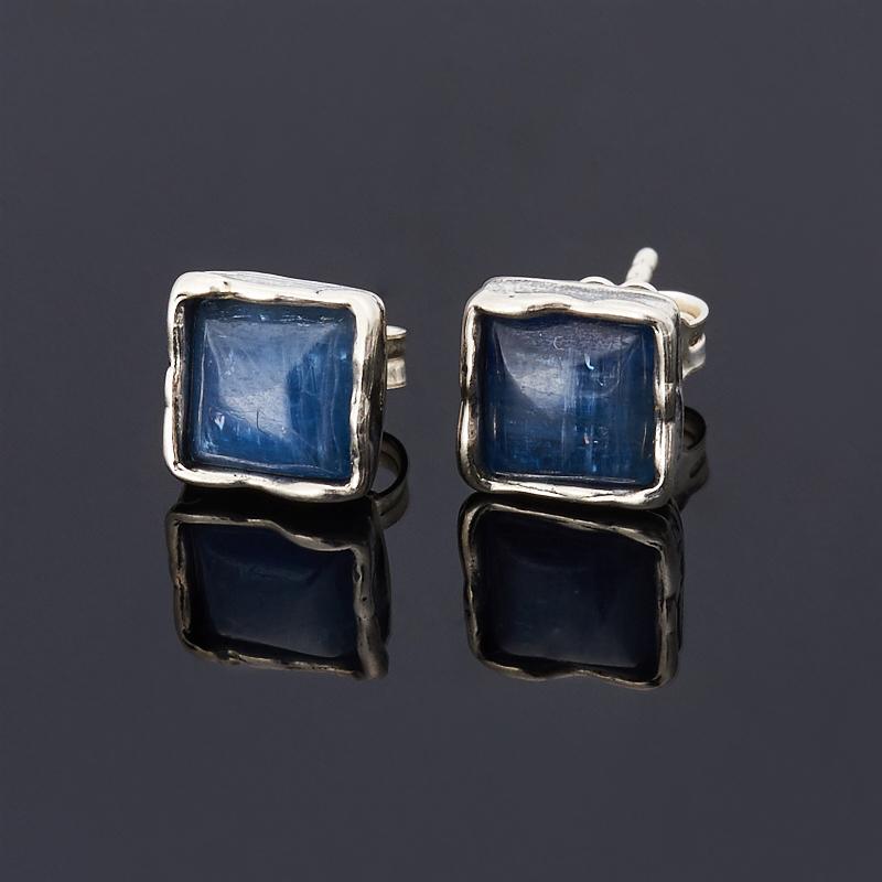 Серьги кианит синий пуссеты (серебро 925 пр.) серьги 8mm 925 99