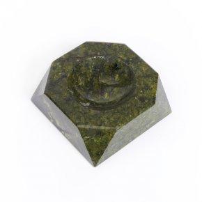 Пепельница змеевик Россия 9,5х9,5 см