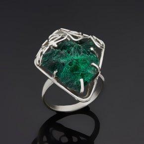 Кольцо малахит (дублет) Конго (нейзильбер) размер 18,5
