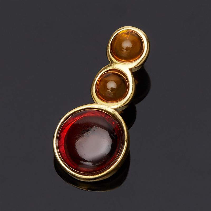 Кулон янтарь (серебро 925 пр., позолота) yoursfs ® 925 серебро клевер кулон ожерелье моды серебряные украшения