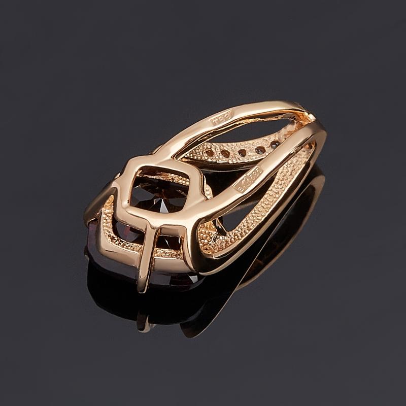 Кулон гранат альмандин Индия огранка (золото 585 пр.)