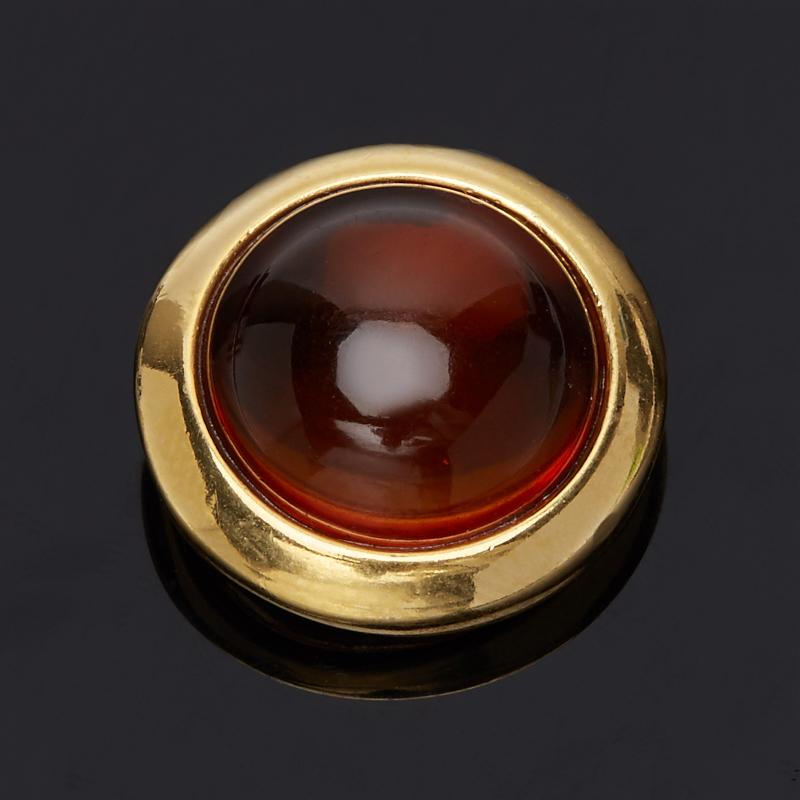 Кулон янтарь круг (серебро 925 пр., позолота) yoursfs ® 925 серебро клевер кулон ожерелье моды серебряные украшения