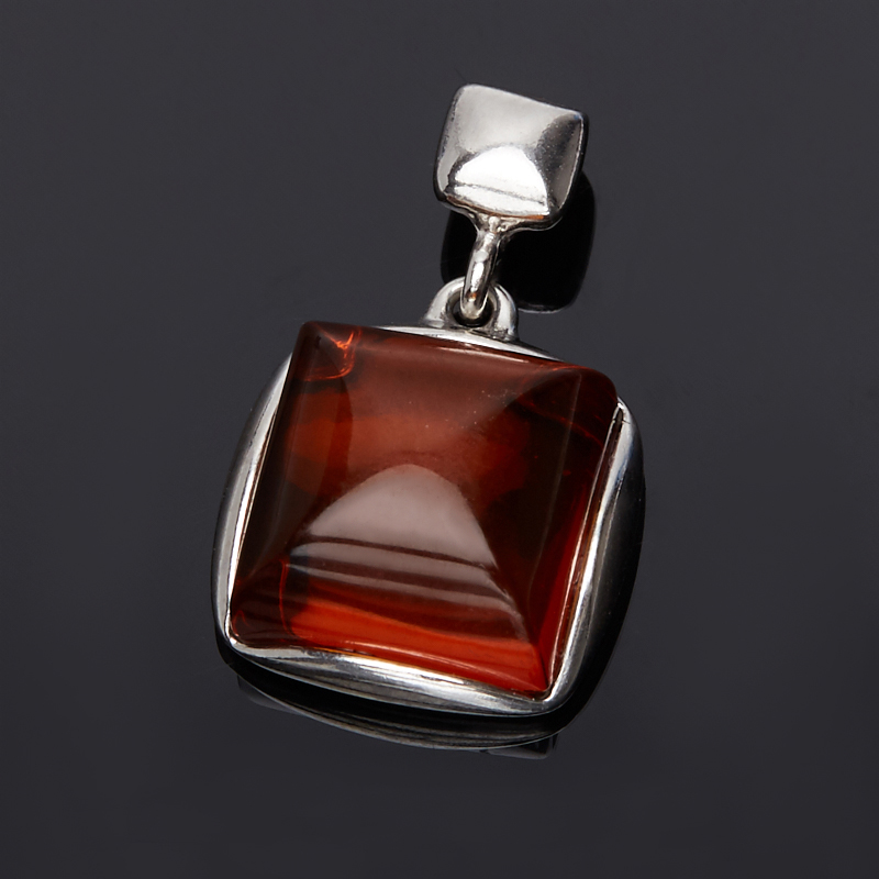 Кулон янтарь квадрат (серебро 925 пр.) yoursfs ® 925 серебро клевер кулон ожерелье моды серебряные украшения