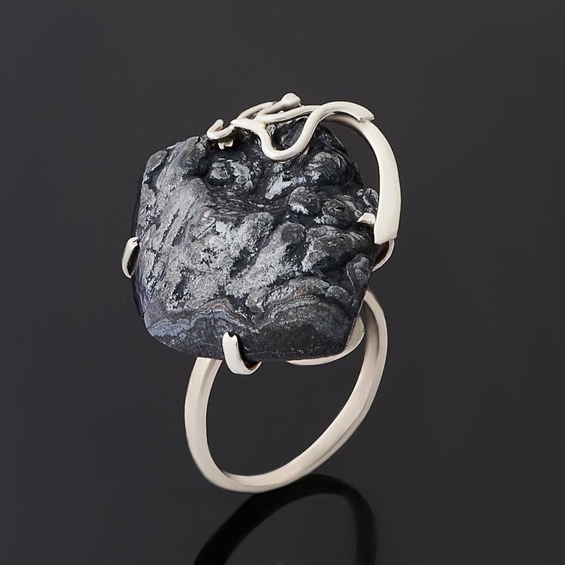 Кольцо гематит Россия (нейзильбер) размер 20,5