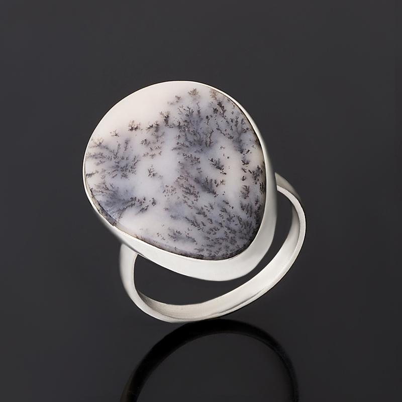 Кольцо агат пейзажный (нейзильбер) размер 18,5
