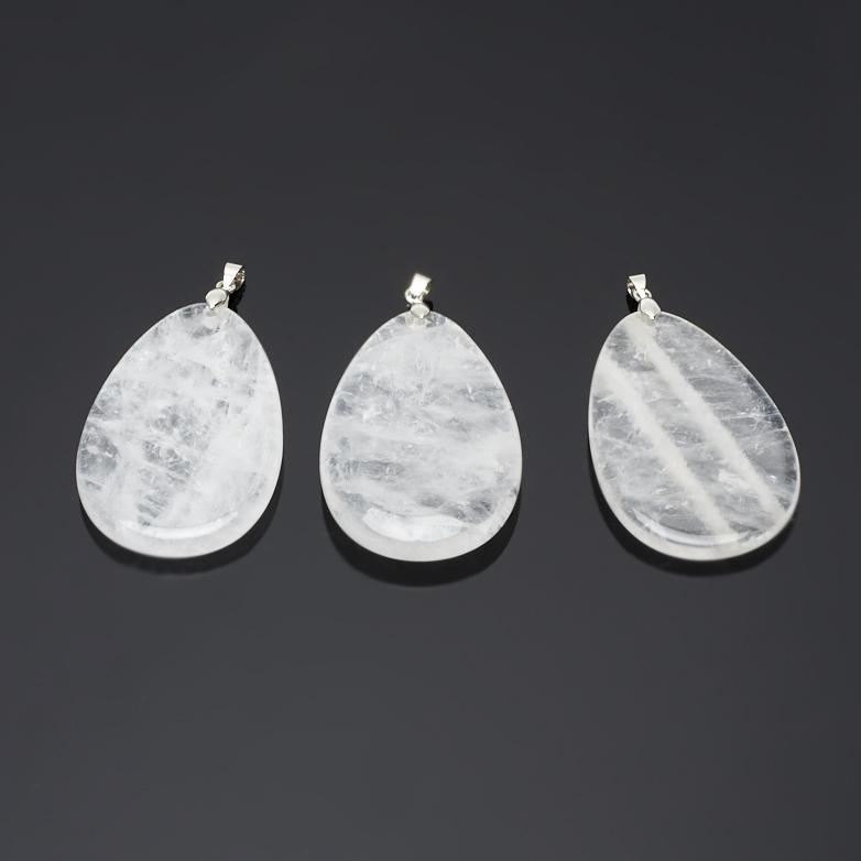 Кулон горный хрусталь капля (биж. сплав) 6,5 см