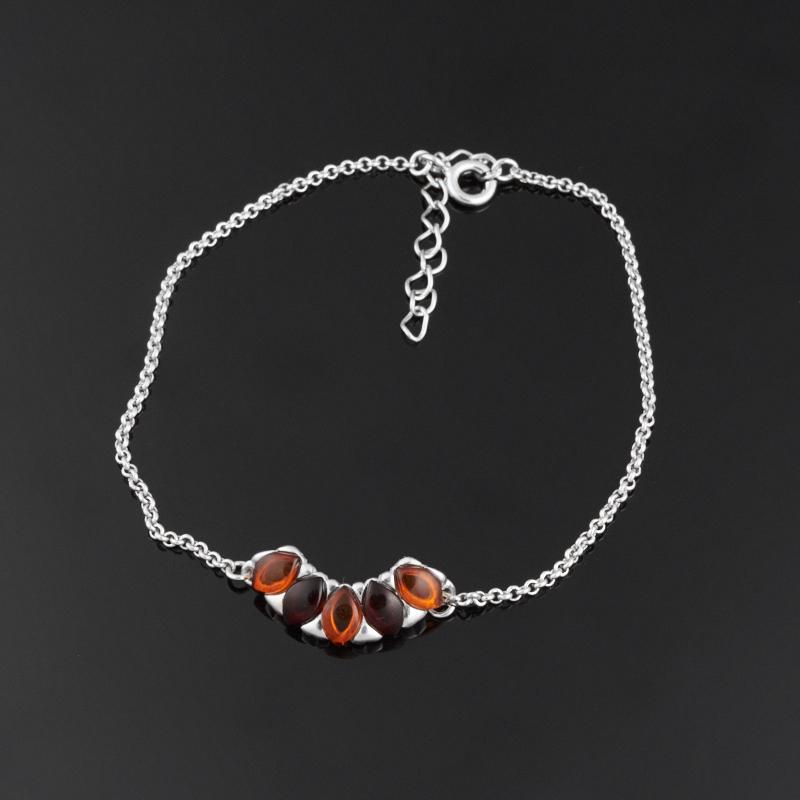 Браслет янтарь 17-20 см (серебро 925 пр.) браслет янтарь пресс 5 мм 17 см