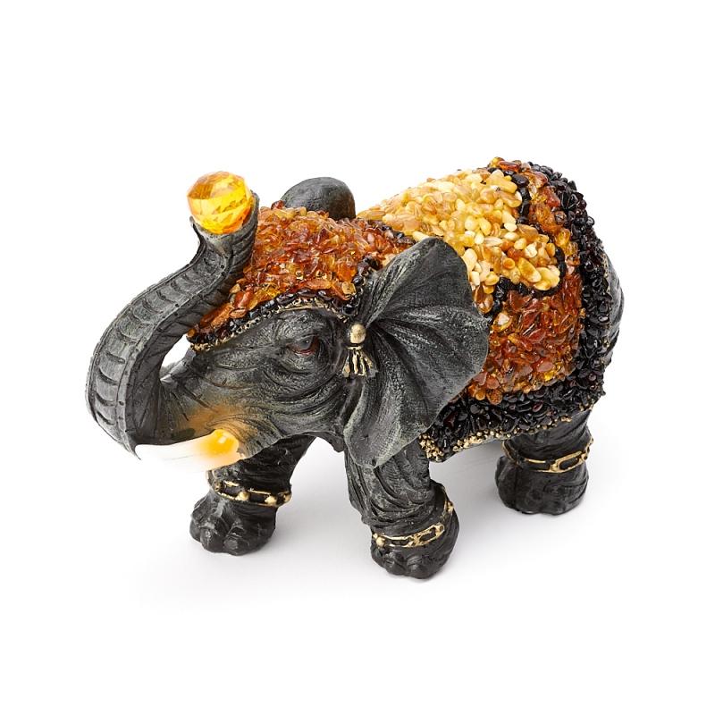 Слон янтарь 18х13х7,5 см