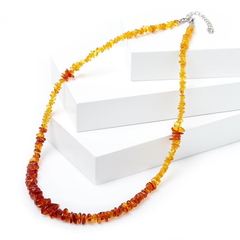 Бусы янтарь 53-59 см (биж. сплав) цена