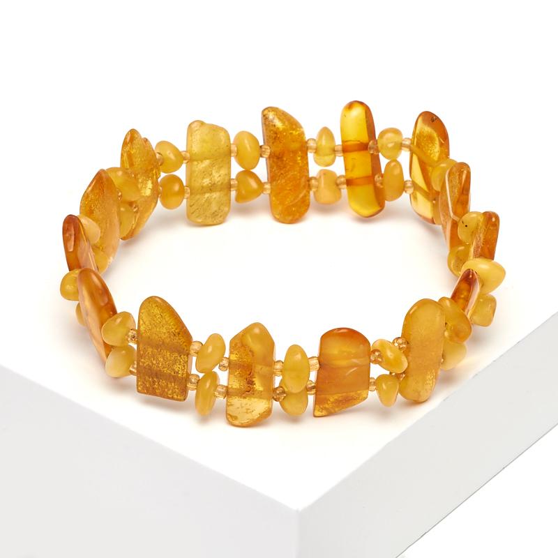 Браслет янтарь 18 см браслет янтарное лето искусственный янтарь россия