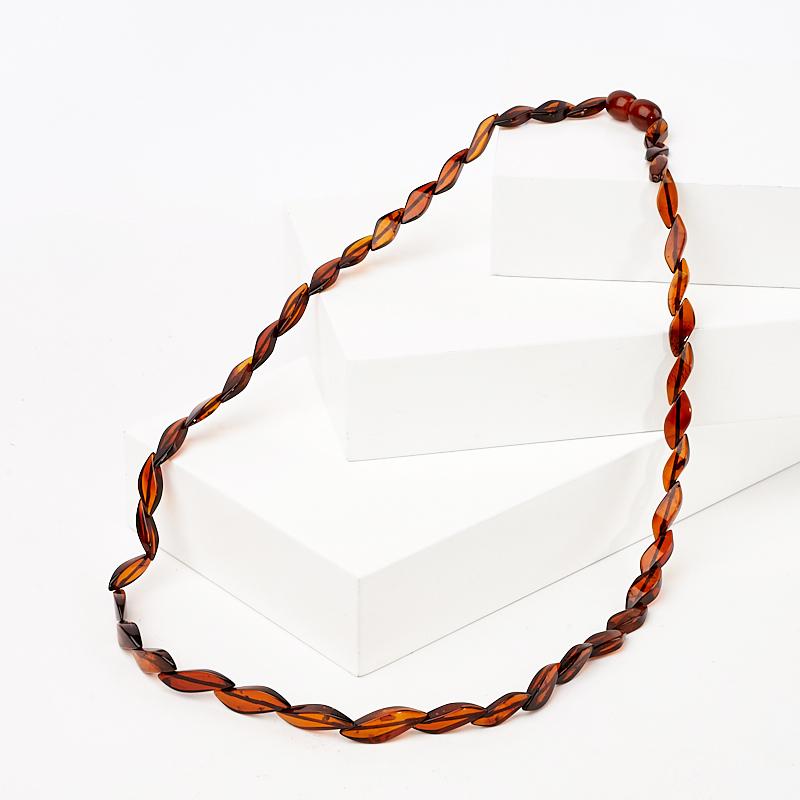Бусы янтарь пресс 48 см браслет янтарь пресс 5 мм 17 см