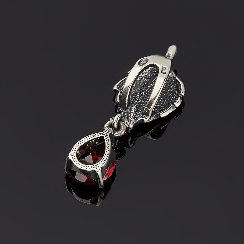 Кулон гранат альмандин Индия огранка (серебро 925 пр.)