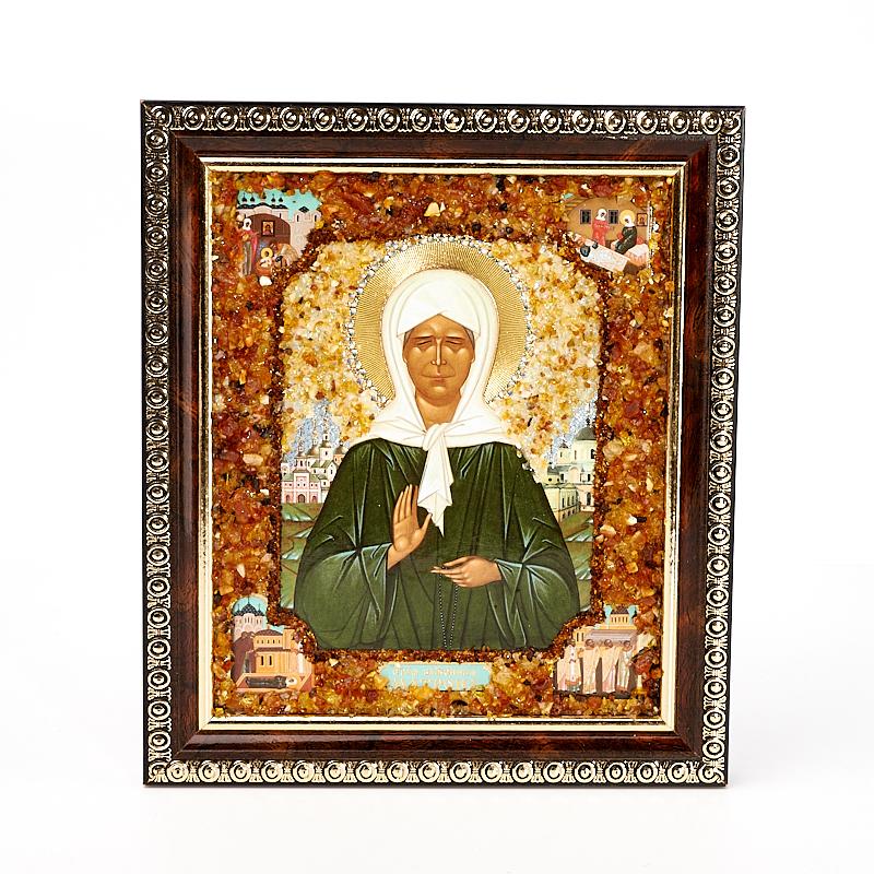 Изображение Святая Матрона янтарь 14х17 см