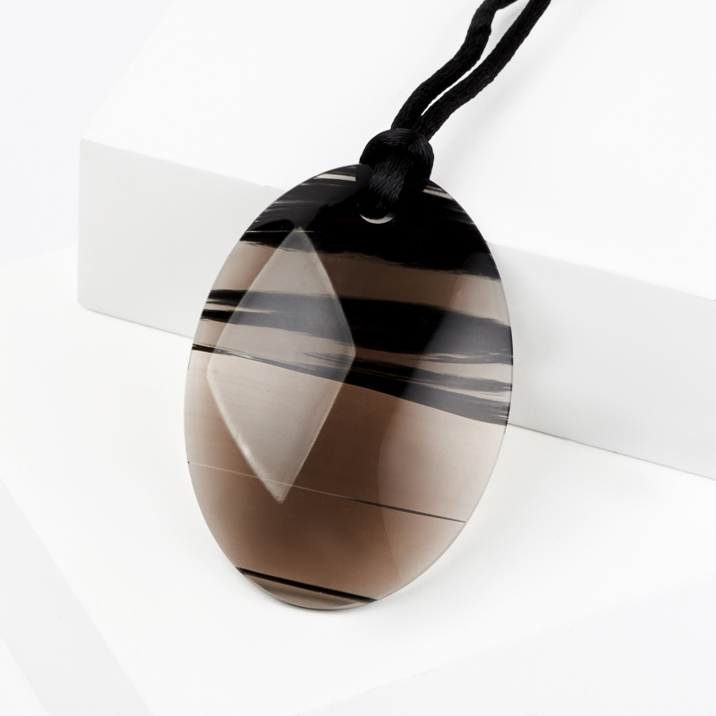 Кулон обсидиан черный овал 5 см арментроут дж обсидиан