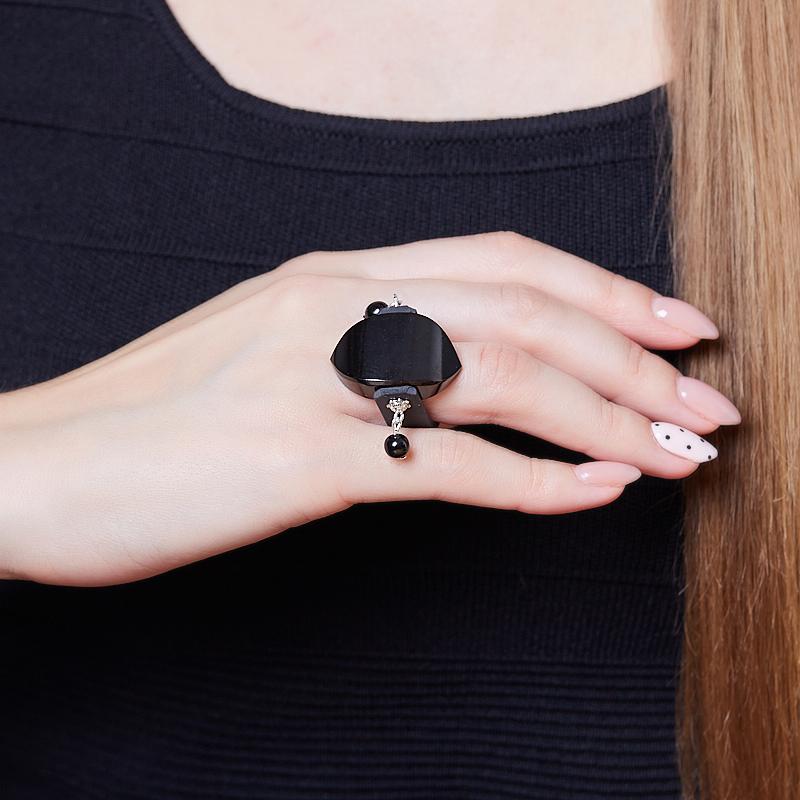 Кольцо гагат Грузия (каучук) размер 18,5