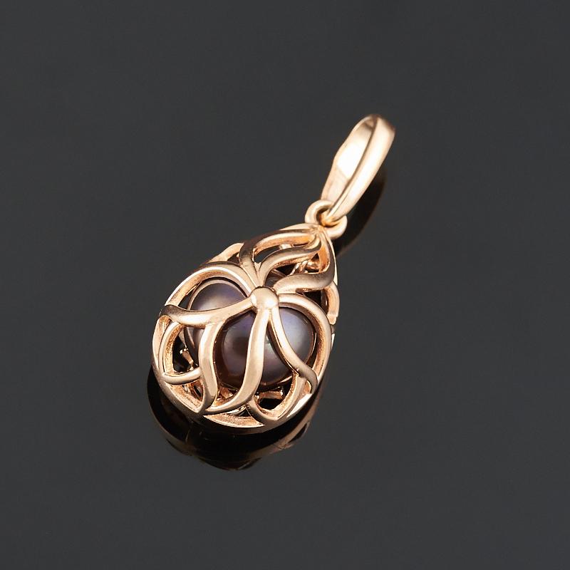 Кулон жемчуг черный (серебро 925 пр., позолота)