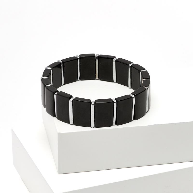 Браслет турмалин черный (шерл) 17 см интеллектуальный полный черный браслет браслет h5h6