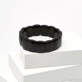 Браслет турмалин черный (шерл) Бразилия 18 см