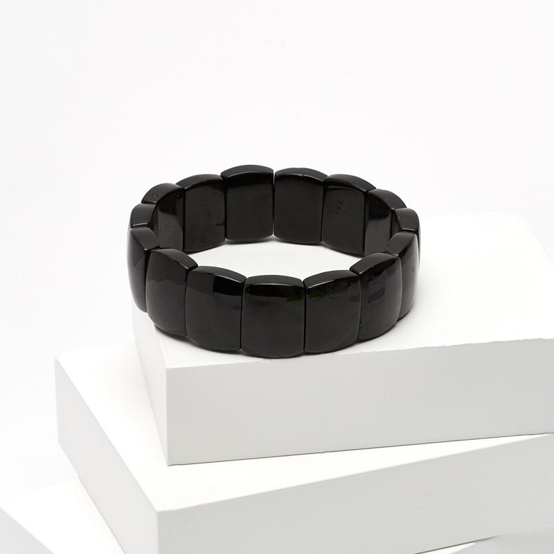 Браслет турмалин черный (шерл) 18 см