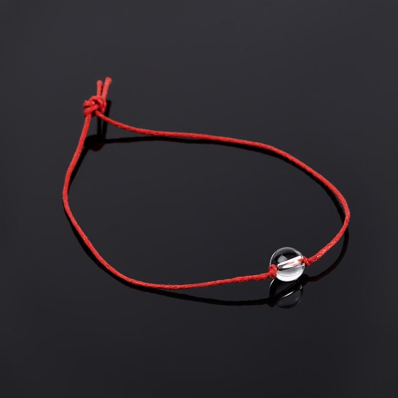 Браслет горный хрусталь красная нить (Для гармонии) 8 мм регулируемый горный хрусталь для очистки воды целитель 350 г