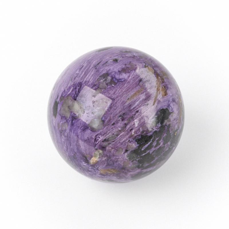 Шар чароит 8 см диско шар 8 см