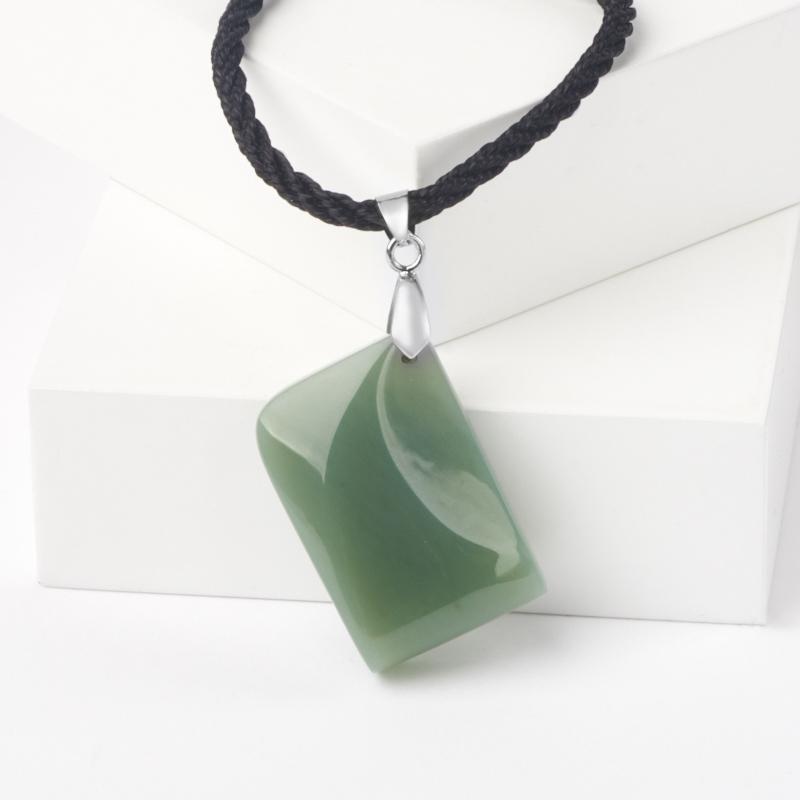 Кулон нефрит зеленый (биж. сплав) 5 см кулон авантюрин биж сплав 5 см