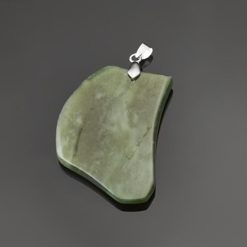 Кулон нефрит зеленый (биж. сплав) 6 см браслет классика 8 нефрит револю