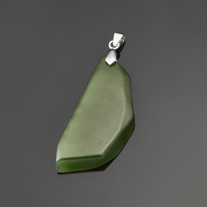 цена на Кулон нефрит зеленый (биж. сплав) 6,5 см