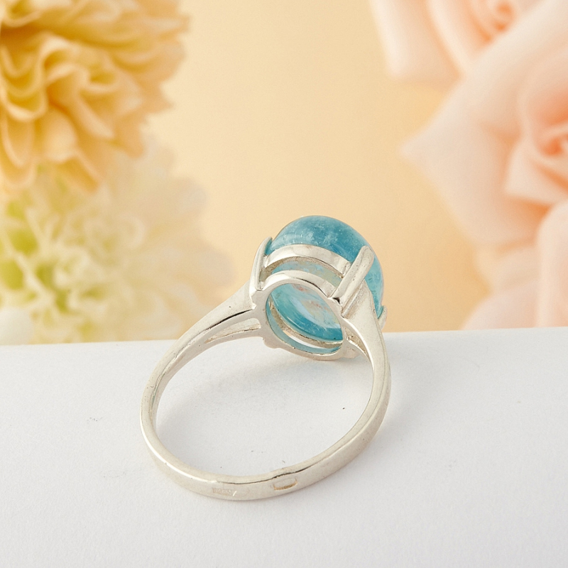 [del] Кольцо аквамарин Бразилия (серебро)  размер 22