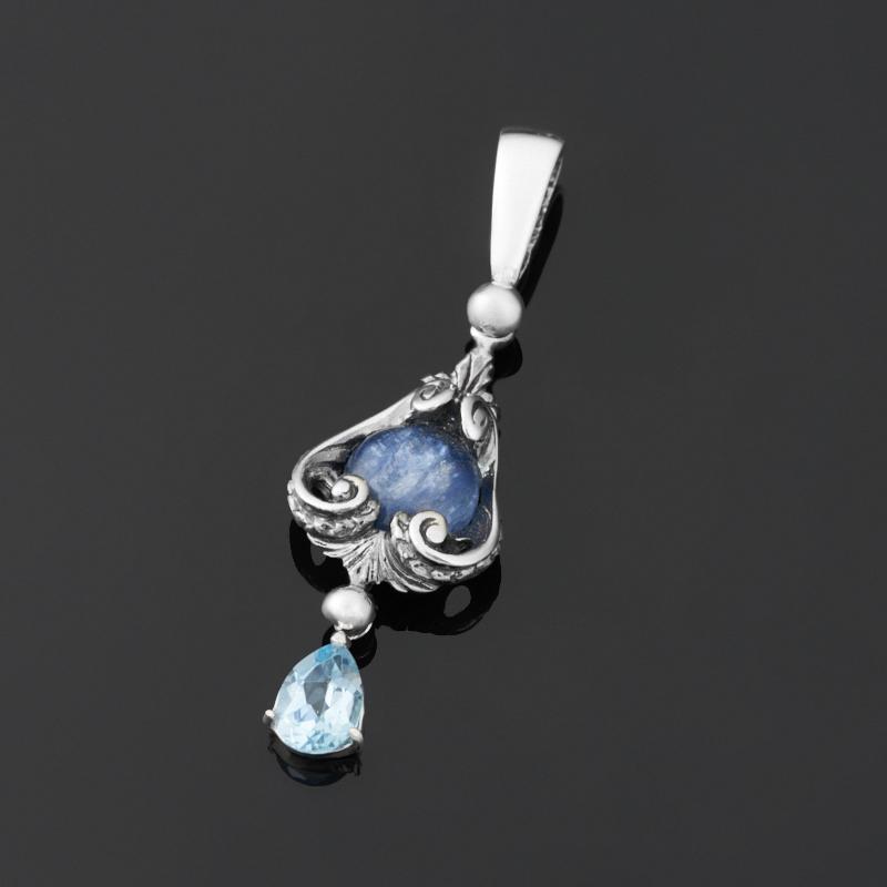Кулон микс кианит, топаз (серебро 925 пр.) кулон серебристого цвета сердечки микс цветов qa 535 1 5см