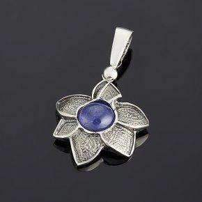 Кулон танзанит Танзания цветок (серебро 925 пр.)