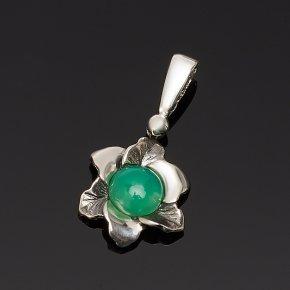 Кулон хризопраз США цветок (серебро 925 пр.)