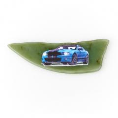 Магнит нефрит зеленый Россия 5,5-7 см